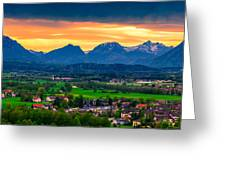 The Alps 01 Greeting Card by Tom Uhlenberg