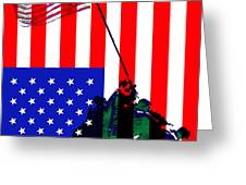 The American Flag Over Iwo Jima 20130210 Greeting Card by Wingsdomain Art and Photography