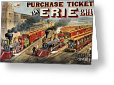 The American Railway Scene  Greeting Card by Currier and Ives