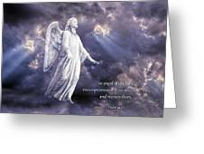 The Angel Of The Lord Greeting Card by Bonnie Barry