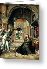 The Annunciation, Early 16th Century Greeting Card by Bernart van Orley