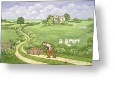 The Apple Barrow Greeting Card by Ditz