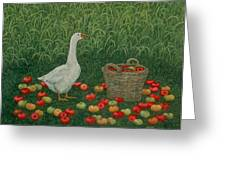 The Apple Basket Greeting Card by Ditz