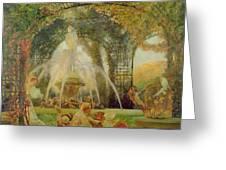 The Arbor Greeting Card by Gaston De la Touche