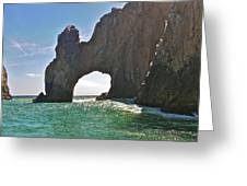 The Arch Lands End Cabo San Lucas  Greeting Card by Jennifer Lamanca Kaufman