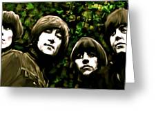The Art Of Sound  The Beatles Greeting Card by Iconic Images Art Gallery David Pucciarelli