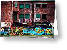 The Art Of The Streets Greeting Card by Karol Livote