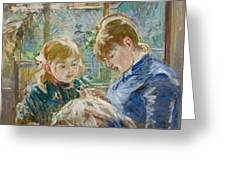 The Artists Daughter Greeting Card by Berthe Morisot