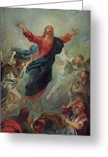 The Ascension Greeting Card by Jean Francois de Troy