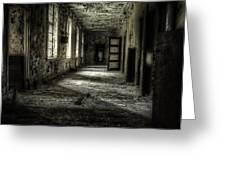 The Asylum Project - Corridor of Terror Greeting Card by Erik Brede