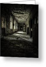The Asylum Project - Corridor Of Terror Greeting Card by Erik Brede