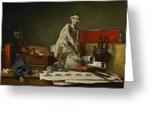 The Attributes Of The Arts And The Rewards Which Are Accorded Them Greeting Card by Jean Baptiste Simeon Chardin