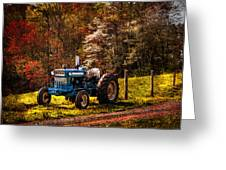 The Autumn Blues Greeting Card by Debra and Dave Vanderlaan