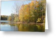 The Autumn Lake Greeting Card by Guy Ricketts