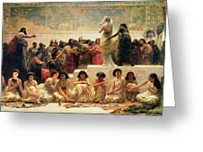 The Babylonian Marriage Market, 1875 Greeting Card by Edwin Longsden Long