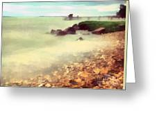 The Balaton Shore Greeting Card by Odon Czintos
