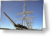 The Balclutha Historic 3 Masted Schooner - San Francisco Greeting Card by Daniel Hagerman