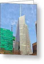 The Bank Of America Building Greeting Card by Jeff Stein