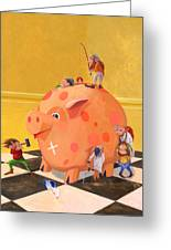 The Bank Robbery Greeting Card by Leonard Filgate