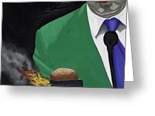 The Banlieu Burger Greeting Card by Marcella Lassen
