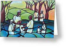 The Baptism Greeting Card by AC Williams