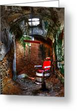 The Barber Chair Greeting Card by David Simons