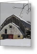 The Barn With A Red Door Greeting Card by Deborah Smolinske