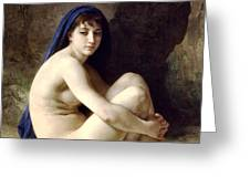 The Bather Greeting Card by William Bouguereau