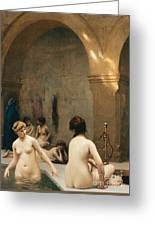 The Bathers Greeting Card by Jean Leon Gerome