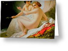 The Bathers Greeting Card by Louis Hersent