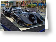 The Batmobile Greeting Card by Tommy Anderson