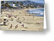 The Beach At Laguna Greeting Card by Kelley King