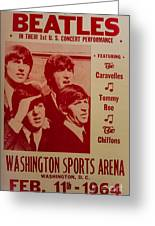 The Beatles 1st U.s. Concert Greeting Card by Mitch Shindelbower
