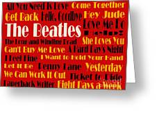 The Beatles 20 Classic Rock Songs 2 Greeting Card by Andee Design