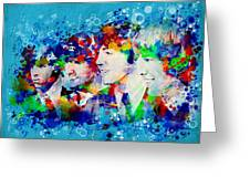The Beatles 6 Greeting Card by MB Art factory