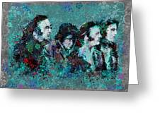 The Beatles 9 Greeting Card by MB Art factory