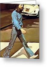 The Beatles Abbey Road Artwork Part 1 Of 4 Greeting Card by Sheraz A