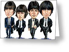 The Beatles Greeting Card by Art