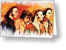 The Beatles Artwork Greeting Card by Sheraz A