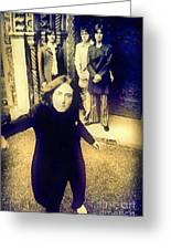 The Beatles - Camera Adjustment Greeting Card by Paulette B Wright