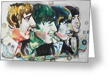 The Beatles 01 Greeting Card by Chrisann Ellis