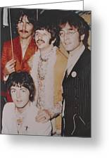 The Beatles In Color Greeting Card by Donna Wilson