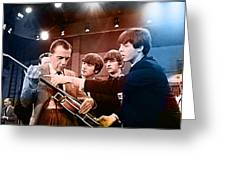 The Beatles On The Ed Sullivan Show Greeting Card by Marvin Blaine