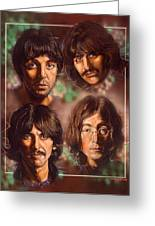 The Beatles Greeting Card by Tim  Scoggins
