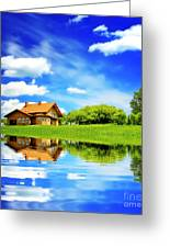The Beautiful House Greeting Card by Boon Mee