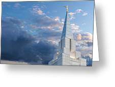 The Beautiful Vancouver Lds Temple. Greeting Card by Laurent Lucuix