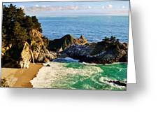 The Beauty Of Big Sur Greeting Card by Benjamin Yeager