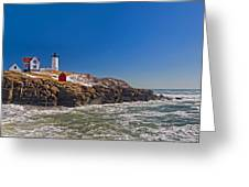 The Beauty Of Nubble Greeting Card by Joann Vitali