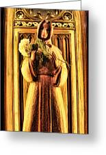 The Benedictine Monk Greeting Card by Lee Dos Santos