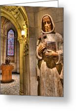 The Benedictine Order Greeting Card by Lee Dos Santos